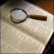 Bible through Magnifying Glass